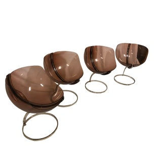 1970s Modern Boris Tabacoff Sphere Chairs - Set of 4 For Sale