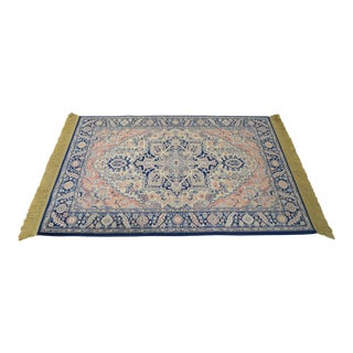 Karastan 4.3' x 6' Blue Heriz Area Rug #748 For Sale