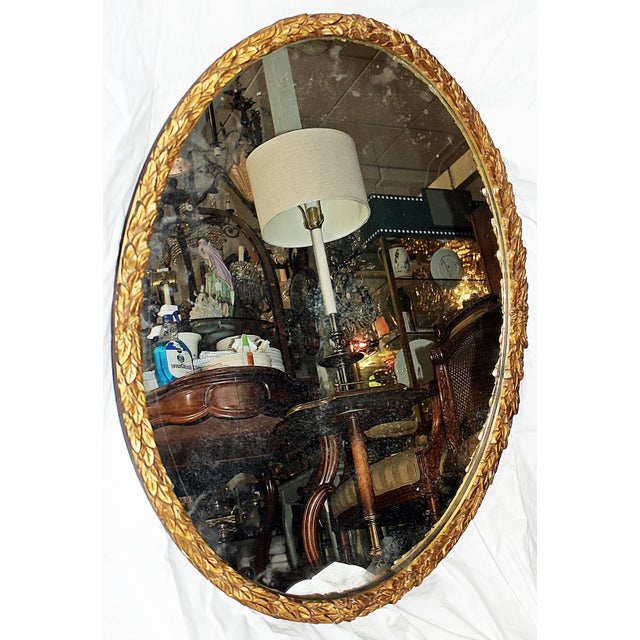 Oval Gilt Wood Mirror - Image 3 of 8