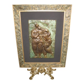 David Schluss Romantic Flute Bronze Plaque