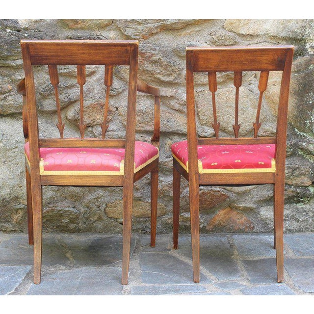 Set of Six Continental Neoclassical Dining Chairs For Sale - Image 4 of 10