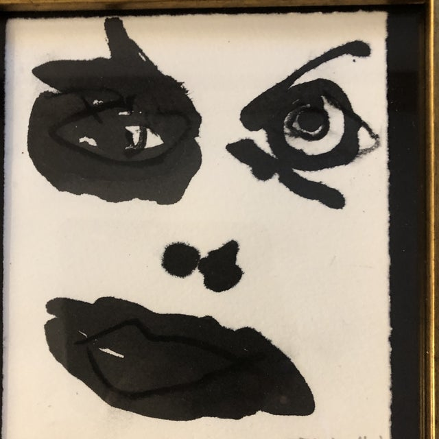Abstract Original Contemporary Robert Cooke Abstract Face Painting For Sale - Image 3 of 5