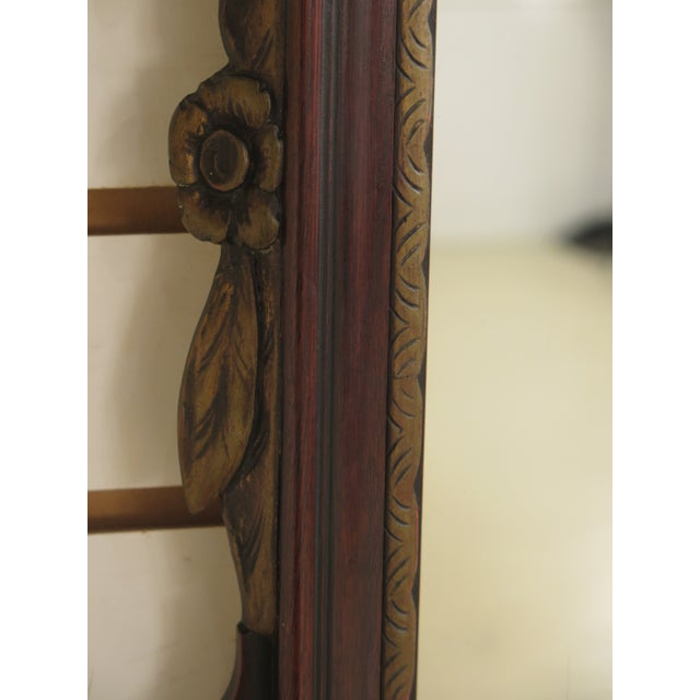 Kindel Vintage Mahogany Chippendale Wall Mirror For Sale - Image 9 of 11