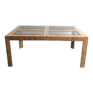 1970s Burl Wood Dining Table For Sale