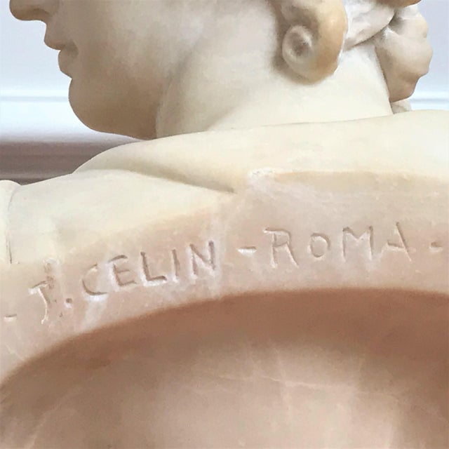 19th Century Italian Grand Tour Souvenir Bust of the Apollo Belvedere For Sale In Chicago - Image 6 of 13