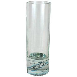 Seguso Cylindrical Swirl Vase For Sale