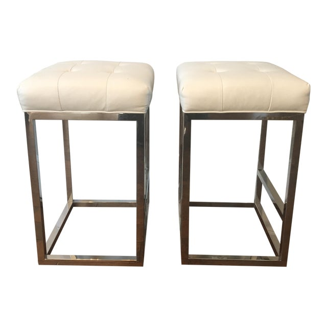 Mitchell Gold Bob Williams Bar Stools - A Pair - Image 1 of 3