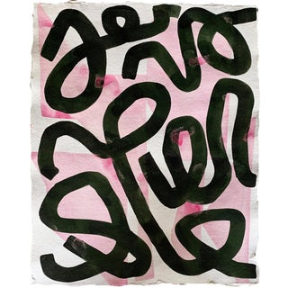 Green Squiggle Original Painting by Kate Roebuck For Sale