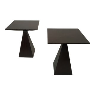 Pair of Pyramid Tables by Harvey Probber For Sale