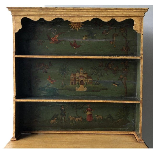 """19th C. Continental Motif Gusto Painted Cupboard Height: 72.5"""" Width: 42.5"""" Depth: 19.5"""""""