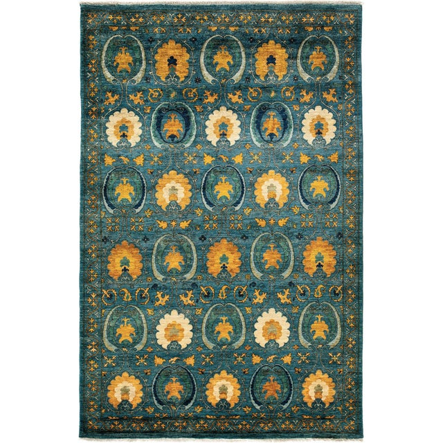 New Arts & Crafts Hand-Knotted Rug - 6′ × 9′4″ - Image 1 of 2