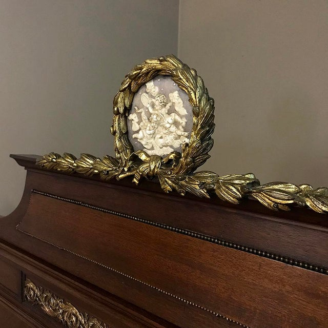 Louis XVI 19th Century French Louis XVI Queen Bed With Ormolu For Sale - Image 3 of 13