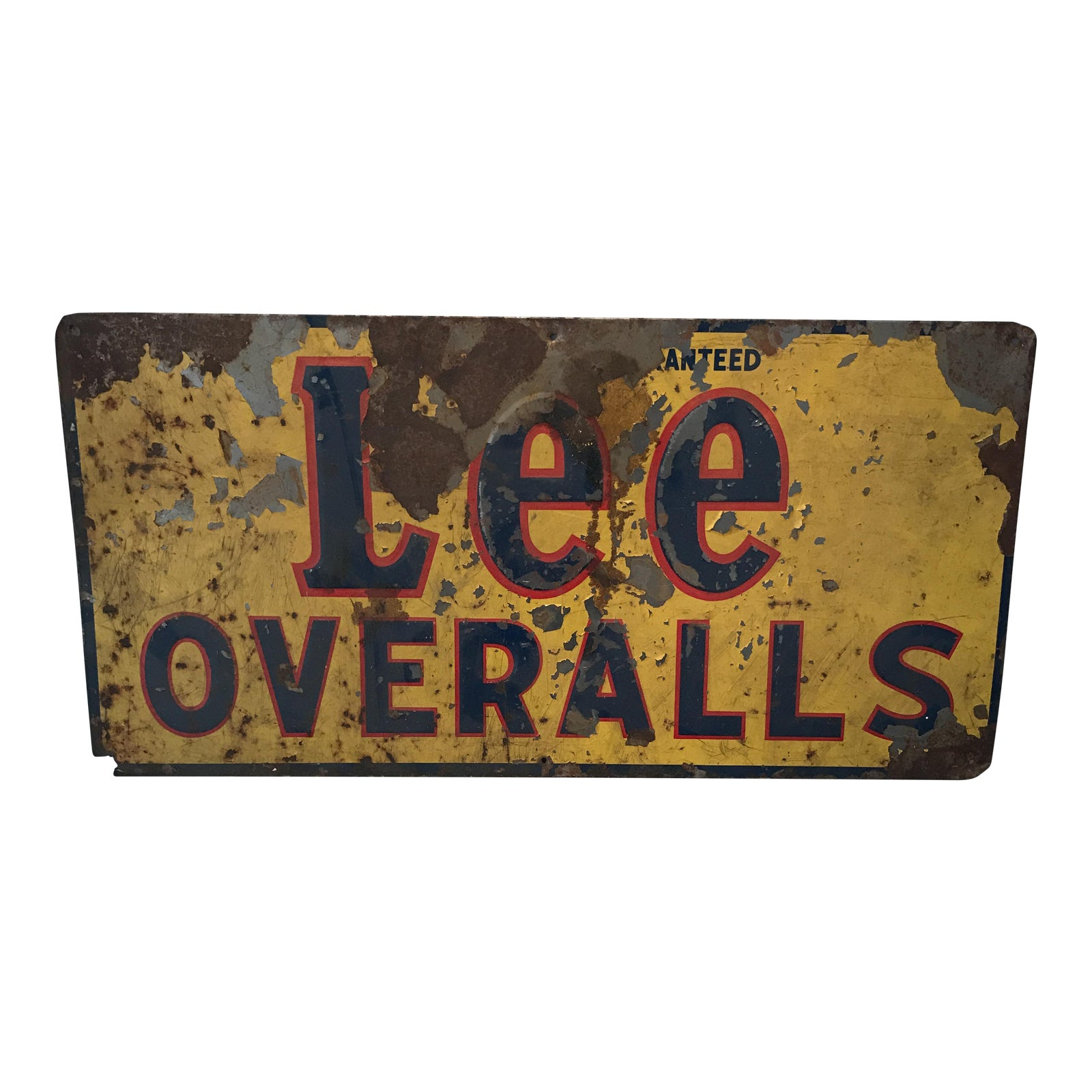 Lee Overalls Metal Advertising Sign Chairish