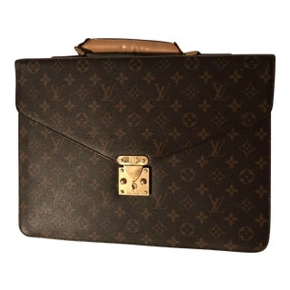 1990s French Louis Vuitton Document Bag For Sale