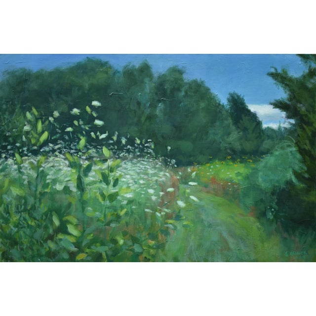 """Contemporary Plein Air Painting by Stephen Remick, """"Uphill, Into the Sun"""" For Sale"""