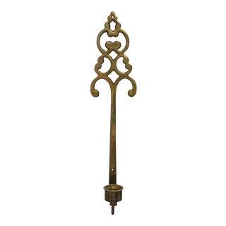 Large Brass Key Candelabra Sconce For Sale