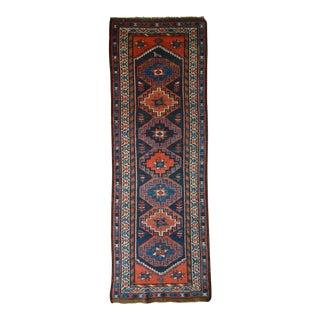 """Vintage Persian Tribal Runner Rug - 3'6"""" X 10'1"""""""