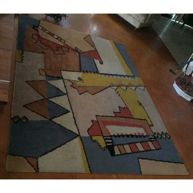 "Seller says: ""I have had this great colorful abstract area rug for 18+ years. I have enjoyed the abstract design and..."