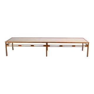 Mid-Century Modern Oversized Long Rectangular Walnut Coffee Table For Sale