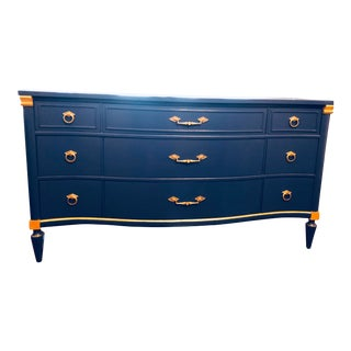 Bassett Lapis & Gold Dresser For Sale