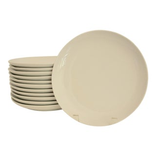 Crate & Barrel Salad or Hors D'Oeuvres Plates - Set of 12 For Sale