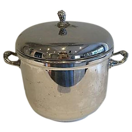 1960s Silver-Plate Ice Bucket For Sale