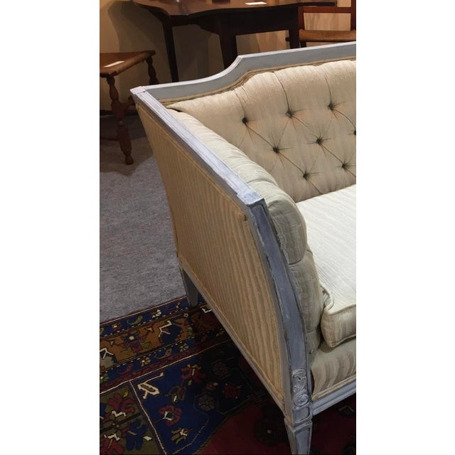 Late 20th Century Late 20th Century Vintage Custom Swedish Gustavian Style Sofa For Sale - Image 5 of 13