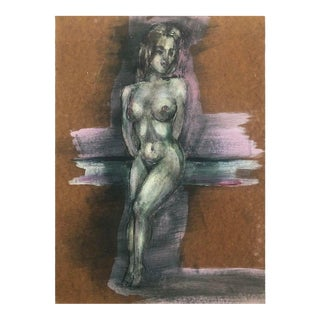 Modern Female Nude Oil Painting, 1950s For Sale