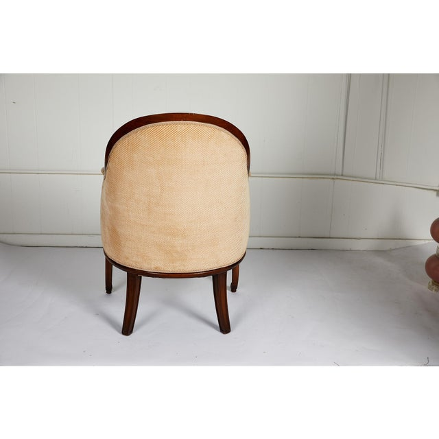 Early 20th Century French Empire Style Swan Arm Tub Chair For Sale - Image 5 of 9