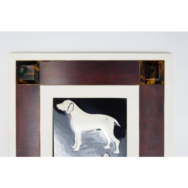 1950s Italian Horn and Resin Dog Picture For Sale - Image 5 of 8
