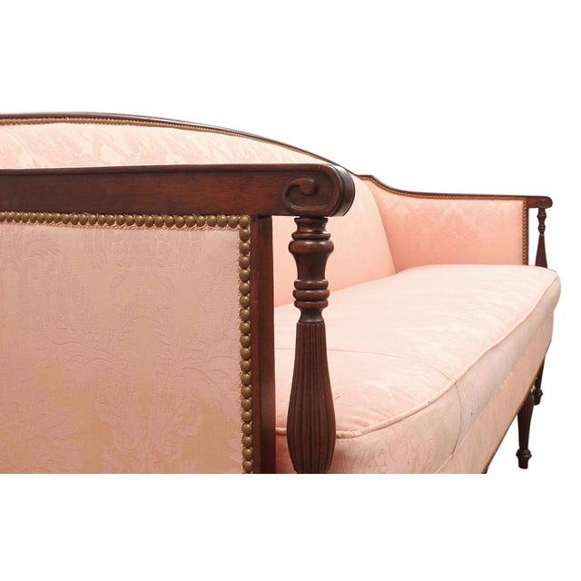 1960's Vintage Hickory Chair Furniture Company Sheraton Style Settee For Sale In Tampa - Image 6 of 7