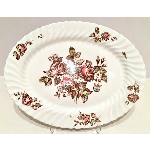 "Vintage English Ironstone ""Devon Sprays"" Dinnerware by Johnson Brothers - Set of 16 For Sale In West Palm - Image 6 of 12"