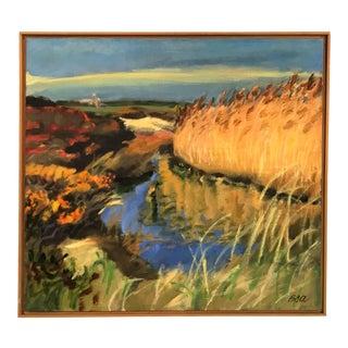 Barbara Olins Alpert 'Bittersweet' Signed Original Oil Painting on Linen With Floating Frame For Sale