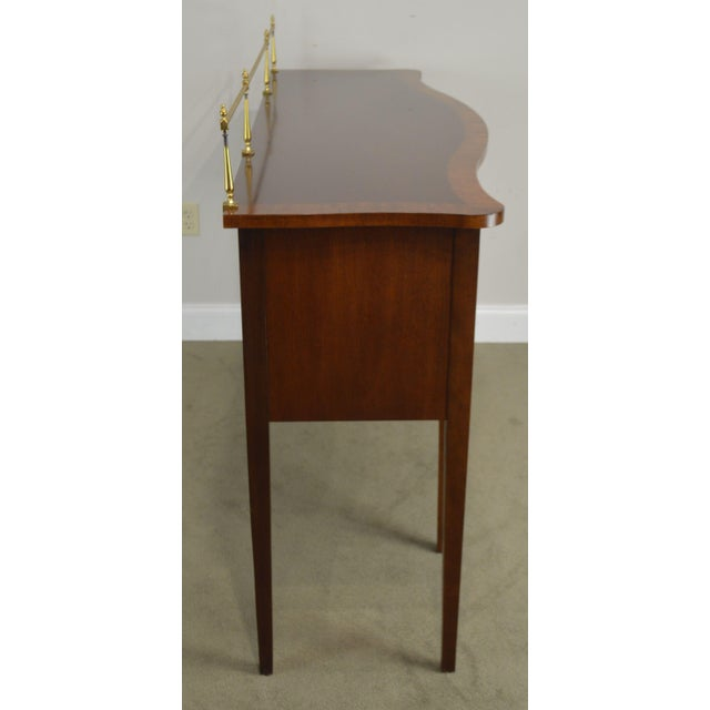 Ethan Allen 18th Century Collection Mahogany Inlaid Hepplewhite Style Sideboard For Sale - Image 11 of 13