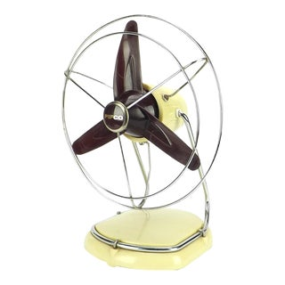 1930's Pifco Modernistic Desk Fan For Sale