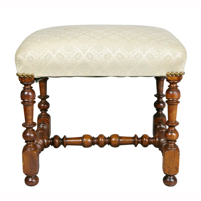 Wood Flemish Baroque Walnut Bench For Sale - Image 7 of 8