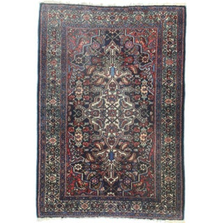 RugsinDallas Hand-Knotted Wool Persian Hamedan - 3′7″ × 5′1″ For Sale