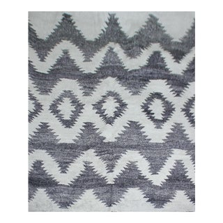 Hand Knotted Bamboo Rug by Aara Rugs Inc. - 8′ × 10′ For Sale