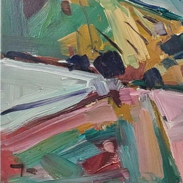 Jose Trujillo Impressionist Hills Modernist Valley Original Artwork For Sale - Image 4 of 4