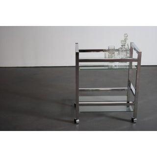 Glamorous Chrome Mirrored Bar Cart / Tea Cart Preview