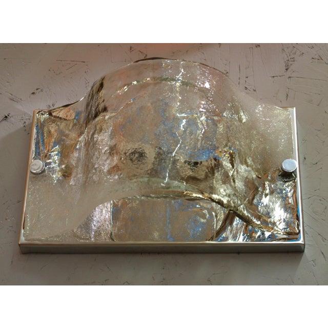 Carlo Nason Carlo Nason Murano Glass Sconce / Flush Mount For Sale - Image 4 of 6