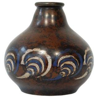 Primavera Bronze Cloisonné Vase For Sale