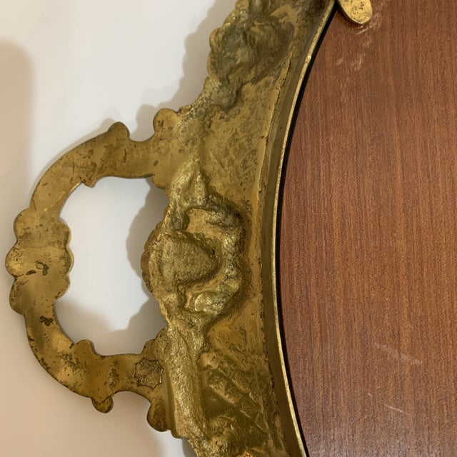 Bronze French Gilt Bronze Mirrored Tray For Sale - Image 8 of 9