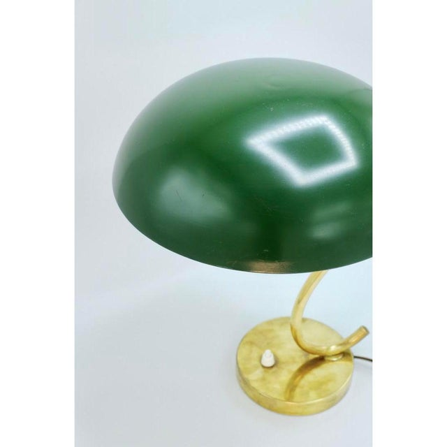 1960s Mid-Century Scandinavian Green With S Curve Desk Lamp For Sale - Image 5 of 6