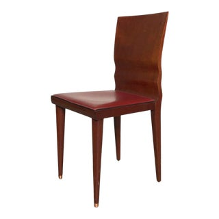 Modern Wavy Back Dining Chair For Sale