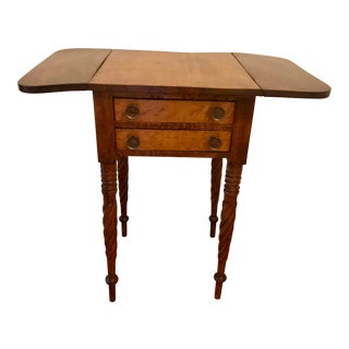 19th Century Early American Rope-Legged Curly Maple Stand For Sale