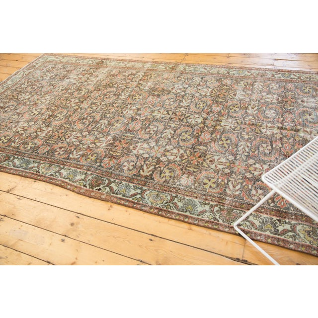 "Vintage Distressed Mahal Carpet - 5'5"" X 10' For Sale - Image 10 of 13"