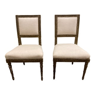 Early 20th Century Antique Italian Accent Chairs - Pair For Sale