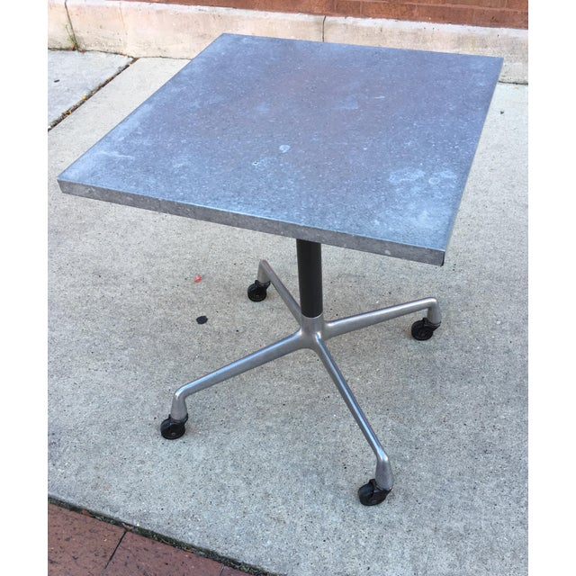 Steel Side Table on Wheels - Image 2 of 6
