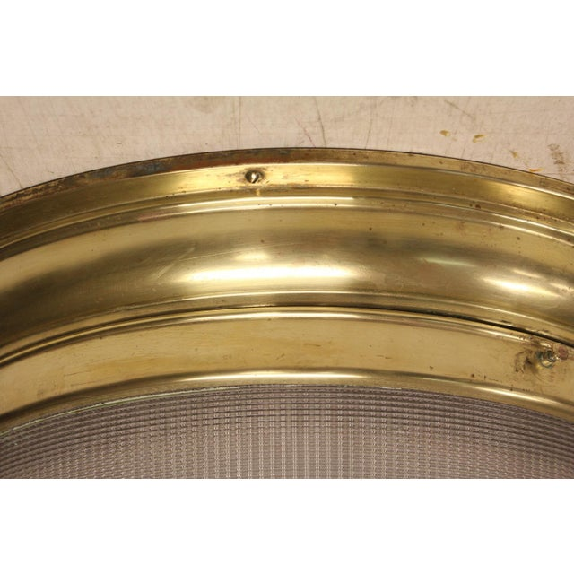 Mid-Century Modern Mid-Century French Holophane Flush Mount For Sale - Image 3 of 6